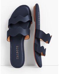 Talbots Sadie Wave Slide Sandals - Blue