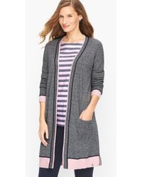 Talbots - Mixed Texture Marled Cardigan Sweater - Lyst