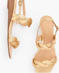 Talbots Capri Twist Mini Wedge Sandals - Metallic