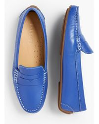 Talbots Taylor Penny-keeper Driving Moccasins - Blue