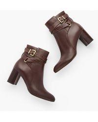 Talbots Simone Vachetta Ankle Boots - Brown