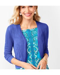 Talbots Open Stitch Bolero Dress Shrug - Blue