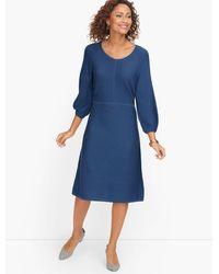 Talbots Pure Merino Jumper Dress - Blue