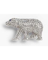 Talbots Holiday Brooch Collection - Polar Bear - Metallic