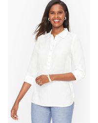 Talbots Linen Popover Shirt Shirt - White