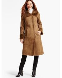 Talbots - Long Shearling Coat - Lyst