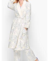 Talbots Sherpa Lined Robe - White