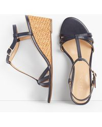 Talbots - Royce T-strap Woven Wedges - Lyst