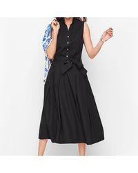 Talbots Full Poplin Skirt - Black