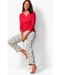 Talbots - Pyjama Set - Flannel Holiday-print - Lyst