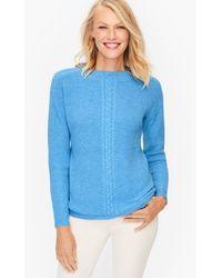 Talbots - Cableknit Mockneck Sweater - Lyst