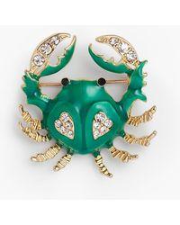 Talbots Crab Brooch - Green
