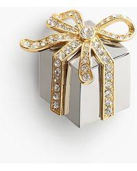 Talbots - Gift Box Brooch - Lyst