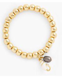 Talbots Seashell Stretch Bracelet - Metallic