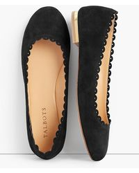 Talbots - Penelope Scalloped Ballet Flats-kid Suede - Lyst