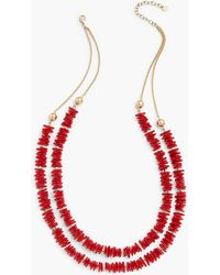 Talbots Coral Reef Double-layer Necklace - Red
