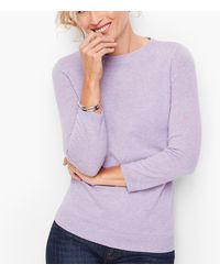 Talbots Cashmere Audrey Sweater - Purple