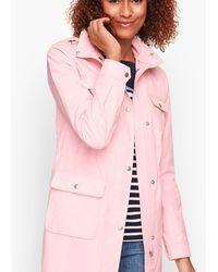 Talbots Drawcord Raincoat - Pink