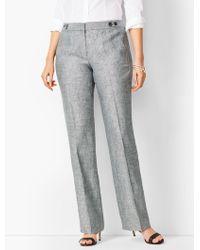 Talbots Windsor Linen Wide-leg Pants - Black