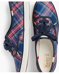 Talbots Exclusive Plaid Keds® Champion Sneakers - Blue