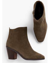 Talbots Sierra Suede Block-heel Boots - Green