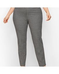 Talbots Plus Size Luxe Knit Slim Ankle Pants - Grey