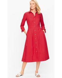 Talbots Poplin Shirtdress - Red