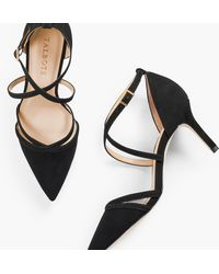 Talbots Erica Strappy Court Shoes - Black