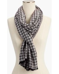 Talbots - Jacquard Houndstooth Scarf - Lyst