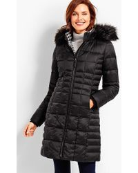 Talbots | Hooded Down Puffer Coat | Lyst