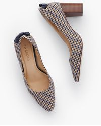 Talbots Kelsey Tie Detail Block Heel Court Shoes - Multicolour