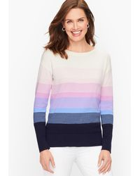 Talbots End-on-end Ombré Sweater - Blue
