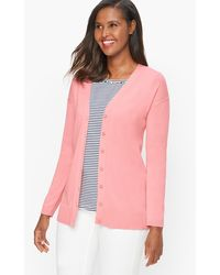 Talbots Girlfriend Cardigan Jumper - Pink
