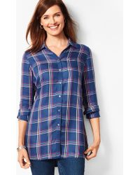 Talbots - Buckingham Plaid Longer-length Perfect Shirt - Lyst