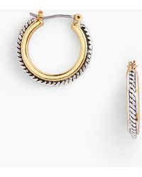Talbots - Textured Hoop Earrings - Lyst