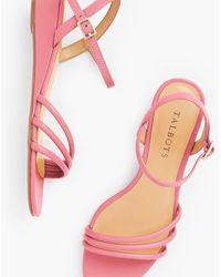 Talbots Cora Multi Strap Mini Wedge Sandals - Pink