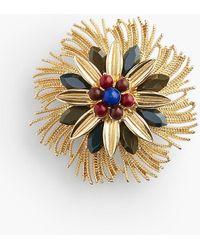 Talbots Frayed Flower Pin - Metallic