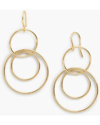 Talbots - Interlocking Hoop Drop Earrings - Lyst