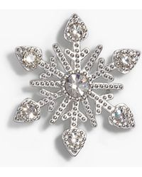Talbots - Sterling Silver Snowflake Pin - Lyst