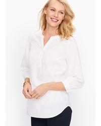 Talbots Perfect Popover Shirt - White