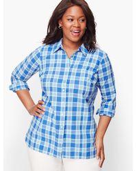 Talbots Classic Cotton Shirt - Blue