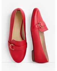 Talbots Ryan D-ring Loafers - Red