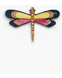 Talbots Multi-color Dragonfly Brooch - Yellow