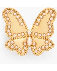 Talbots Butterfly Brooch - Metallic