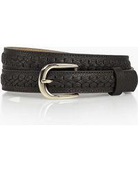 Talbots - Womans Fishtail Braided Belt - Lyst