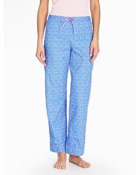 Talbots Bright Print Pyjama Bottoms-cherries - Blue