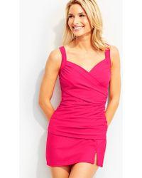 Talbots Sanibel Tankini Top-solid Colors-miraclesuit® - Pink