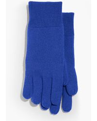 Talbots - Ribbed Trim Cashmere Gloves - Lyst