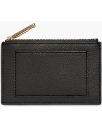 Talbots Pebble Leather Zip Card Case - Black