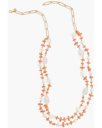 Talbots Beach Beads Double Strand Necklace - Pink